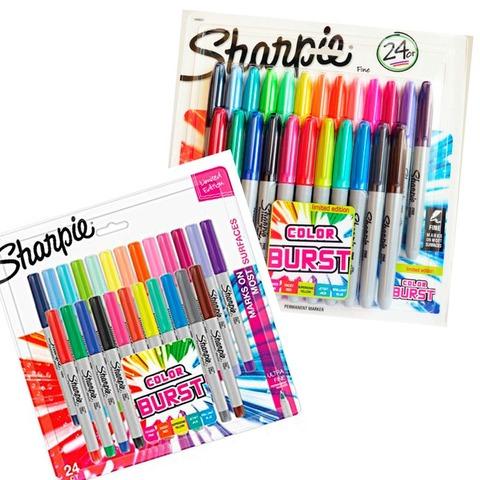 Marcador Sharpie Color Burst Set x24 Punta Ultra Fina + Set x24 Punta Fina
