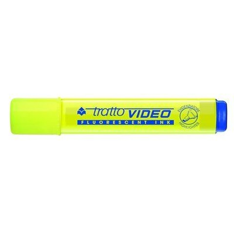 Resaltador Tratto Video Plano Fluo Amarillo