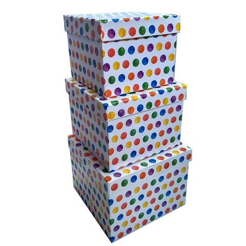 Set de Cajas x3 forradas