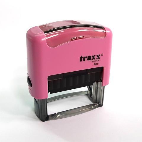 Promo sello completo Traxx (9011) + 3 líneas de texto Rosa