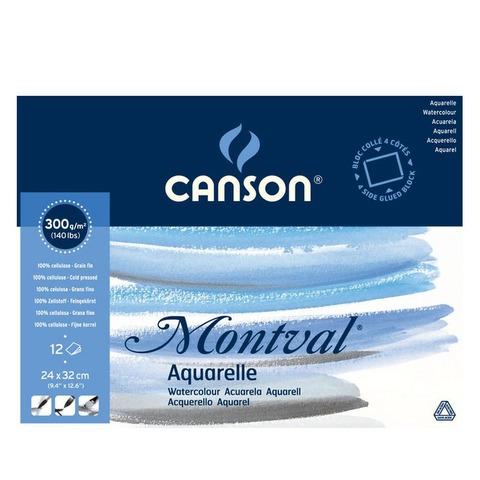 Block Canson Montval 300grs - 24 x 32 cm (Encolado)
