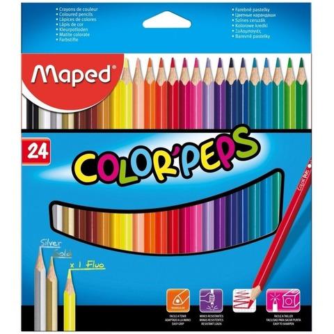 Lápiz Maped Colorpeps x24 Largos