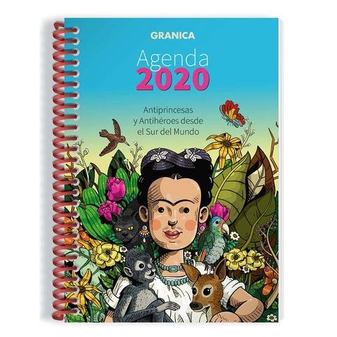 Agenda 2020 Granica Lic. Antiprincesas Semanal Nº8 Espiralada