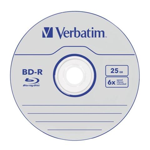 CD BD-R Blu-ray Verbatim x1