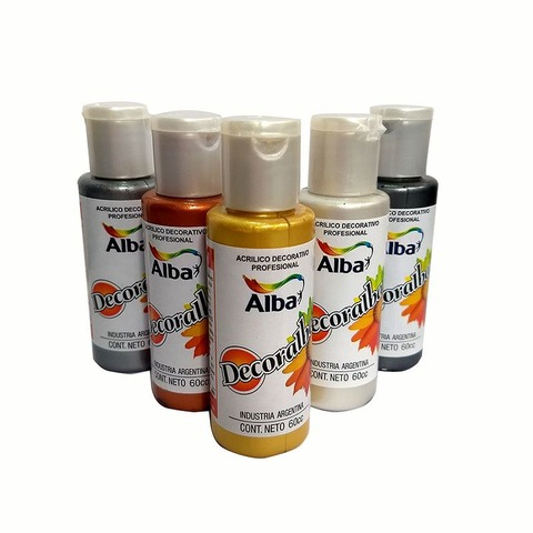 Acrilico Alba Decoralba 60ml Perlados