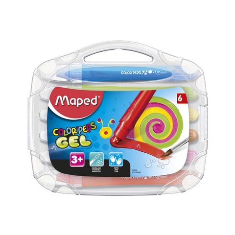 Cera Maped Colorpeps Gel x 6 caja plástica