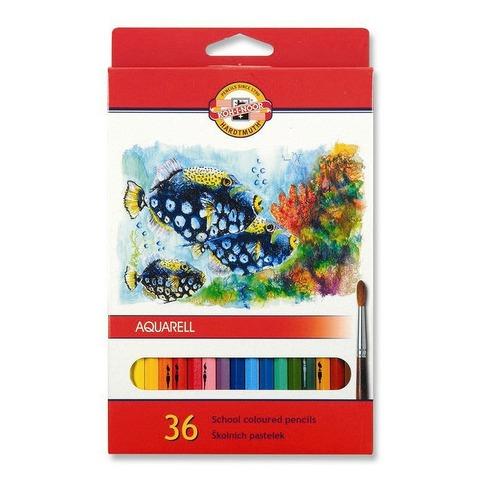 Lápiz Kohinoor Acuarelable x36 Cartón Fish
