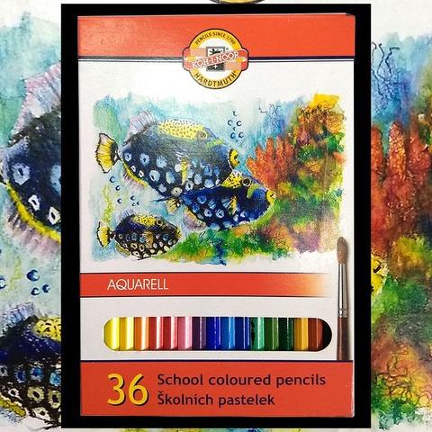Lápiz Koh-i-noor Acuarelable Fish Cartón x36