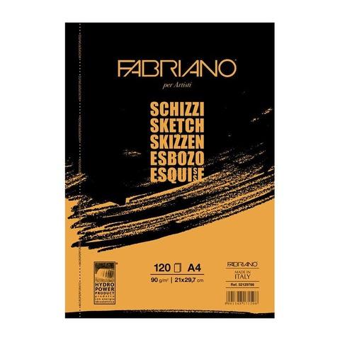 Block Fabriano Schizzi 90gr A4 (120h)