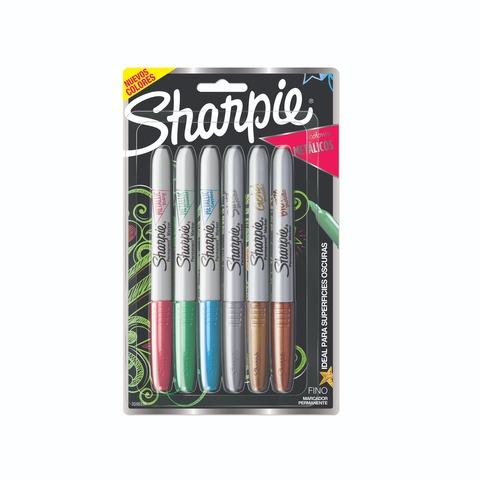Marcador Sharpie Set x 6 Colores Metálicos