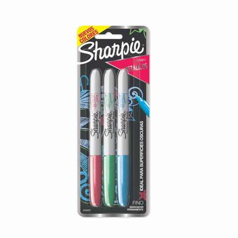 Marcador Sharpie Set x 3 Colores Metálicos Nuevos