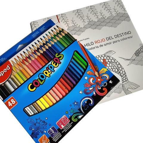 Lápices Maped x48 largos + Libro El hilo rojo de Regalo