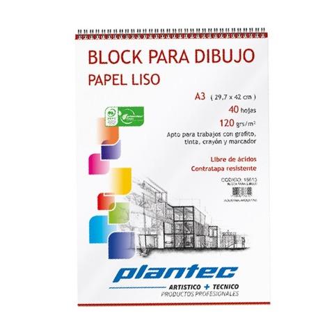 Block Plantec A3 Liso 120gr 40h Espiral
