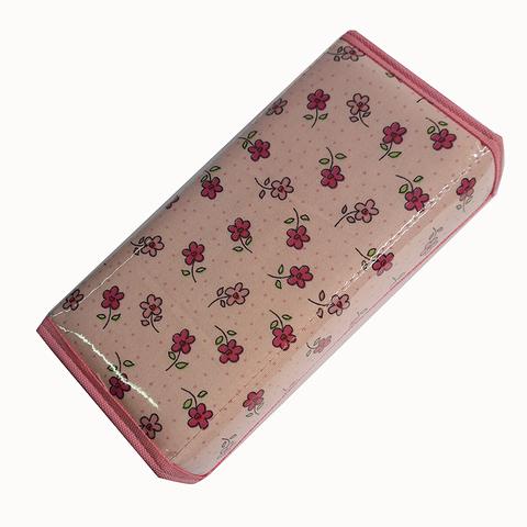 Cartuchera D&P Caja con abrojo 604 Rosa flores magenta