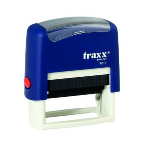 Promo sello completo Traxx (9011) + 3 líneas de texto Azul