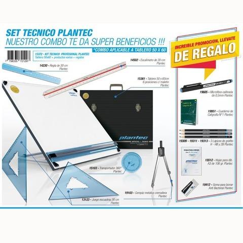Tablero Plantec Con Maletín y Set Técnico 40x50cm