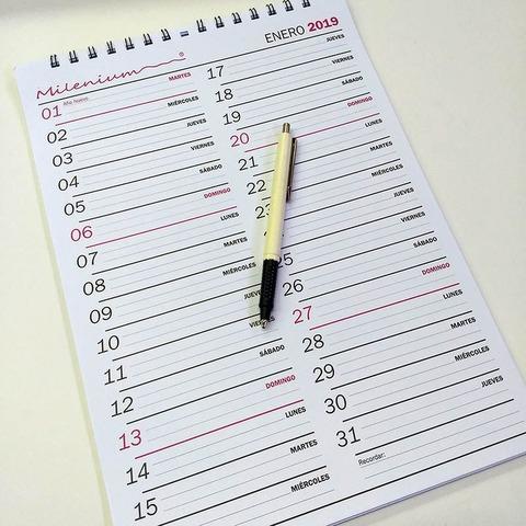 Calendario 2019 Milenium 32.5X23 (CA02)