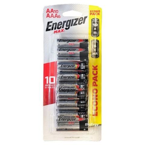 Pila Energizer Combo 10 AA + 6 AAA - AHORRÁ 25%