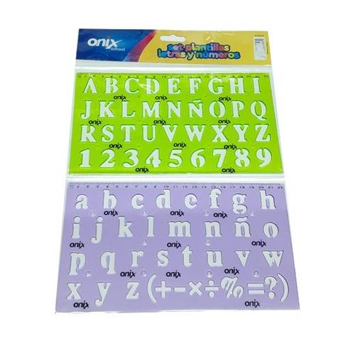 Plantilla Onix Letras y Numeros 20mm aprox. (7001.2)