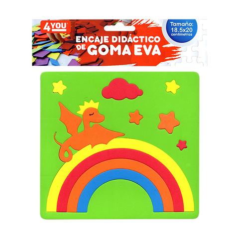 Goma Eva Set Encastre Surtido (18.5x20) Dragon Verde