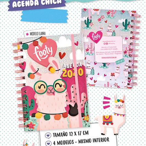 Agenda 2020 Footy 12x17cm Semanal LLama