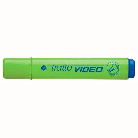 Resaltador Tratto Video Plano Fluo Verde