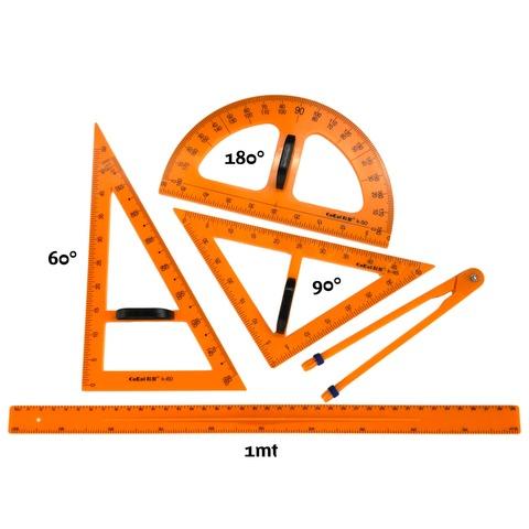 Pizarra Elemento Set de Geometría Olami 5 Piezas Plásticas