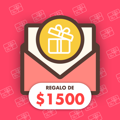 Gift Card Regalo de $1500
