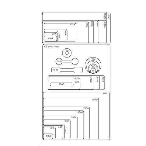 Etiquetas Autoadhesivas Blancas A6