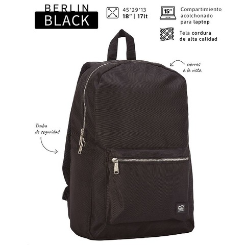 Mochila Mooving Berlin Black 18 7132