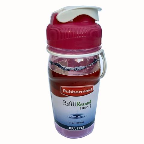 Botella Reutilizable Rubbermaid 400ml Rosa
