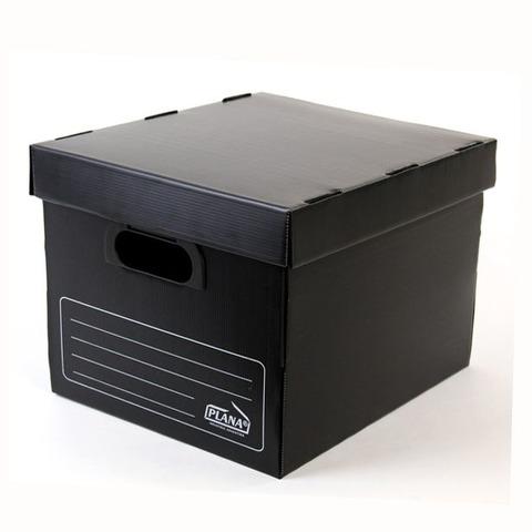 Caja de Archivo Plástica con tapa Cubo