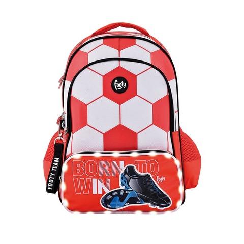 Mochila Footy Futbol c/luz 18 F1103 Roja y Blanca