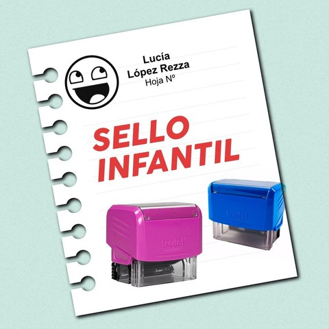 Promo sello Infantil  Dibujo + texto