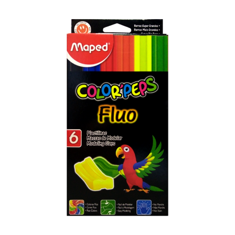 Plastilina Maped Extra Soft Fluo x 6