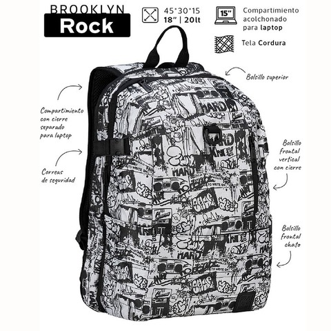 Mochila Mooving Brooklyn Rock 18 5132