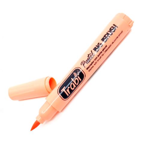 Resaltador Trabi Big Brush Pastel Naranja