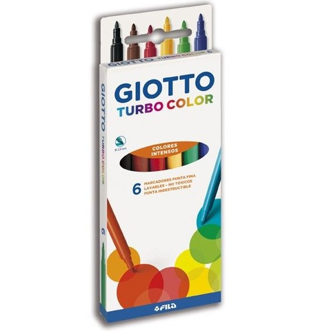 Marcador Giotto Turbo Color  6 Colores