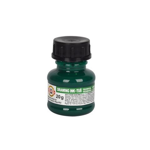 Tinta China Koh-i-noor 20gr Común color Verde