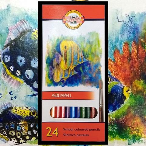 Lápiz Koh-i-noor Acuarelable Fish Cartón x24