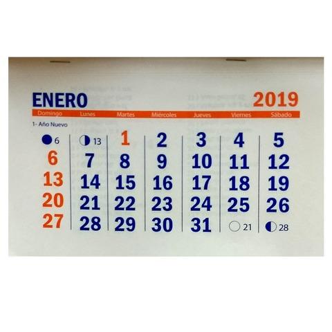 Calendario 2019 11,5x20cm