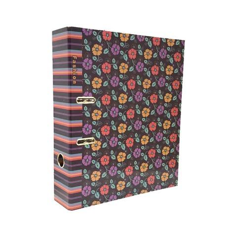 Bibliorato Fantasía Oficio Lomo 7cm Flores y Rayas