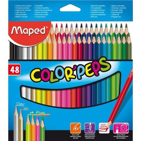 Lápiz Maped Colorpeps x48 Largos