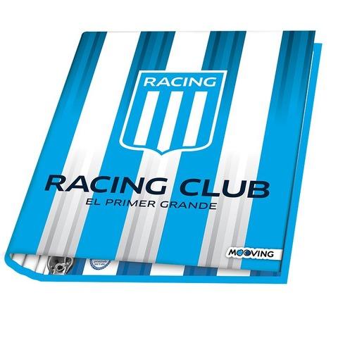 Carpeta Nº3 3x40 Mooving Racing Fondo rayado