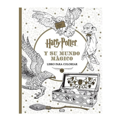 Libro para colorear Harry Potter y su mundo mágicos