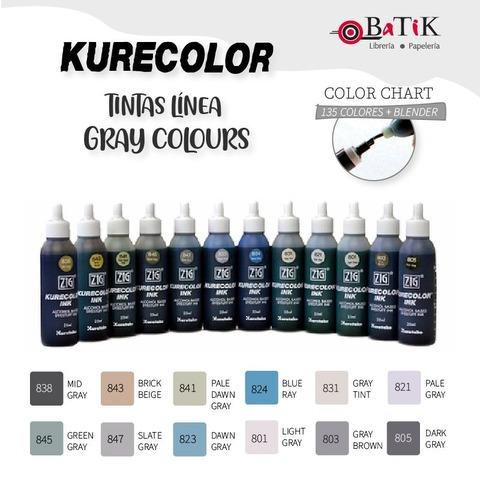 Tinta Kurecolor Línea: Gray Colours (grises)