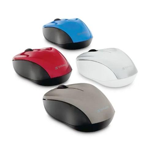 Mouse Óptico Verbatim Inalámbrico Silencioso Multi Trac Blue Led