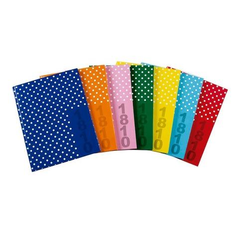 Cuaderno escolar 90grs Marca: 1810 19x23,5 Rayados a lunares x48hjs