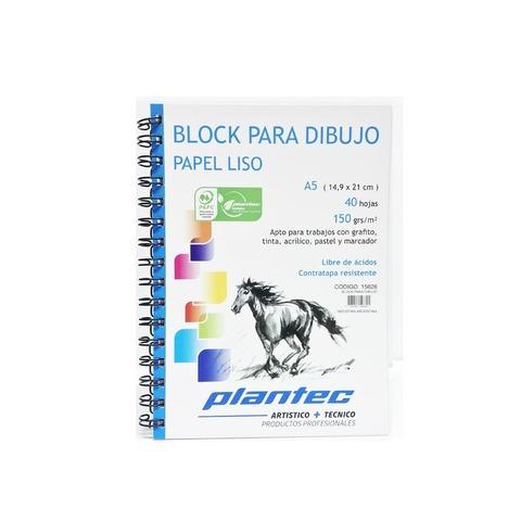 Block Plantec A5 Liso 150gr 40h Espiral Lateral