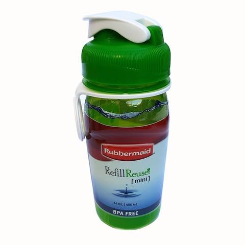 Botella Reutilizable Rubbermaid 400ml Verde